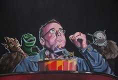 """This Weeks Experiment"", acrylics on canvas, 2013; MST3K belongs to Shout! Factory"